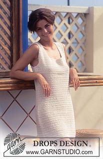 DROPS Crochet dress in Safran ~ DROPS Design