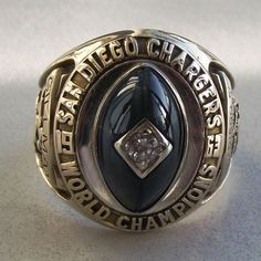 1963 Sid Gillman Personal AFL Championship Ring (Chargers vs. Boston) w/Family Letter - 100% Authentic Authentcation Services