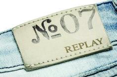 etiquetas de cintura para jeans replay.