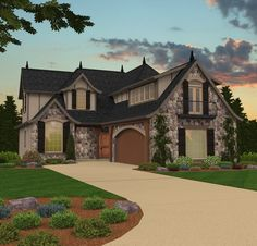 European Style House Plans - 2827 Square Foot Home , 2 Story, 3 ...