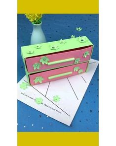 Paper Crafts Origami, Paper Crafts For Kids, Diy Arts And Crafts, Creative Crafts, Diy Paper, Fun Crafts, Paper Bag Crafts, Summer Crafts, Instruções Origami