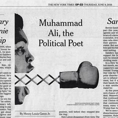 For the New York Times: Muhammad Ali, the Political Poet. Excellently written by Henry Louis Gates Jr., art direction by Jim Datz. . #muhammadali #illustration
