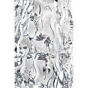 Silver Wavy Metallic Table Skirts