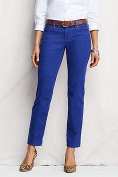 cobalt blue pants, white shirt, leopard shoes!