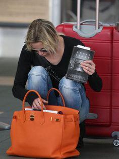 orange Hermes birkin bag