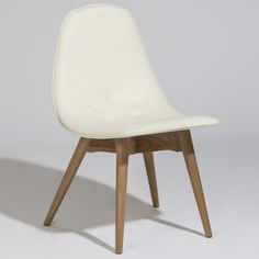 Grant Featherston Style Contour Dining Chair This comes in white leather, I am confirming actual seat height from the dip in the chair and not the front!