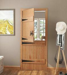 Solid-Oak-Ledged-Stable-V-Groove-Cottage-Door-Select-Grade-amp-Size