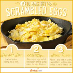 3 Tips for more scrumptious scrambled eggs.