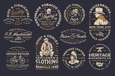 10 Vintage Americana Logos designed by Logo Templates. Vintage Logo Design, Vintage Fonts, Graphic Design, Vintage Branding, Vintage Designs, Retro Vintage, Typography Logo, Logo Branding, Homemade Beer