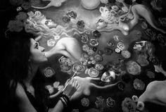 Paintings by Dana Stefania Apostol : me painting