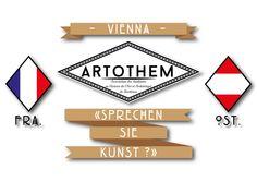 Logo spécialement créé pour le Voyage à Vienne de l'asso Artothem (Bordeaux - FRA)