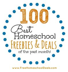 The 100 Best Homeschool Freebies and Deals of the Month! (& Homeschool Freebie & Deal Link Up!!)