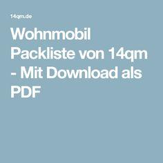 Wohnmobil Packliste von 14qm - Mit Download als PDF
