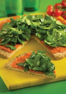 Raw Food: Buckwheat and Sunflower Seed Pizza Crust (Dehydrator)