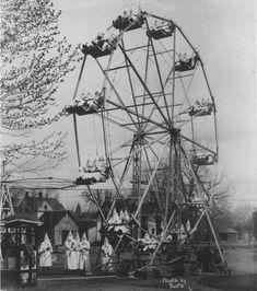Ku Klux Klan on a ferris-wheel, 1925