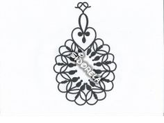 Medallion/earrings Tatting