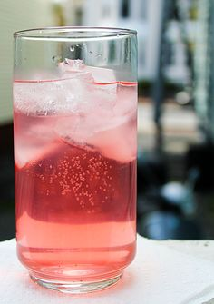 Rhubarb Water...I would replace sugar with Splenda and have a nice, crisp, refreshing beverage!