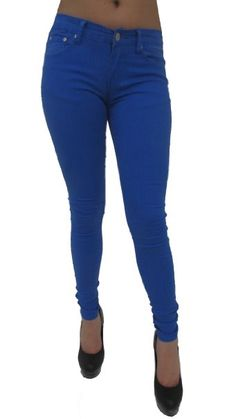 Amazon.com: N002 Color Women Stretch Pencil Pants Casual Low Slim Skinny Jeans Trousers: Clothing