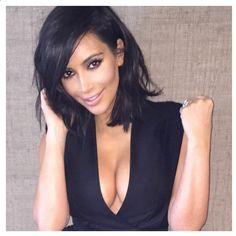 Kim Kardashian - hair cut