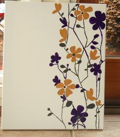 Canvas Painting Ideas for Beginners | love how the acrylic paint goes on so thick, and that the brush ...