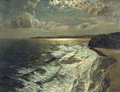 Julius Olsson, 'Moonlit Shore' exhibited 1911