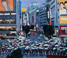"Pham Luan - Shibuya Crossing - A Rainy AfternoonOil on Canvas - 135cm x 155cm Exhibition - ""Seasons of Japan"" ANA InterContinental Tokyo Nov. 10, 2016 - Feb. 5, 2017 InquiryPin it"