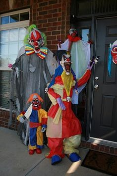 Greeters... evil clowns at the front door or in the foyer.