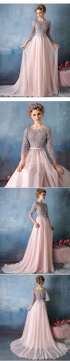 Grey Beaded Evening Dress,Long Sleeve Womens Formal Evening Gown ...