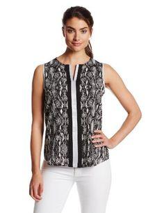 Calvin Klein Women's Printed Top with Metallic Trim, Black/White Print, X-Small Calvin Klein,http://www.amazon.com/dp/B00I1D7DM6/ref=cm_sw_r_pi_dp_gcgHtb15GT7GCRKK