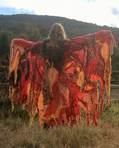 Crochet flame cape - I can only dream of making something so beautiful!