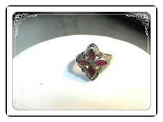 Art Deco Sterling Silver Ring - Marcasite & Carnelian Red  -  1824a-051613000 #handmade #etsyretwt