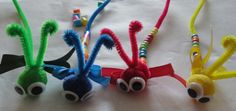 Get little ones to bead pipe cleaner caterpillars if they have a hard time beading on a string