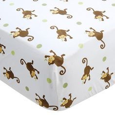 """Bedding for Baby: Mod Pod Pop Monkey Fitted Crib Sheet - Kids Line - Babies """"R"""" Us Baby Boy Rooms, Baby Boy Nurseries, Baby Room, Room Boys, Monkey Nursery, Monkey Bedroom, Toddler Themes, Kids Line, Third Baby"""
