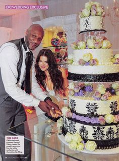 Hansens Wedding Cakes Favorite Newlyweds Of The Week Are NBA Star Lamar Odom And His
