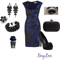 Love this dress...I might not wear that jewelry with it but the shoes and dress are awesome :)