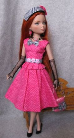 Shocking-Pink-Outfit-Fashion-Tonner-16-034-Doll-for-Ellowyne-Wilde-Lizette-Amber