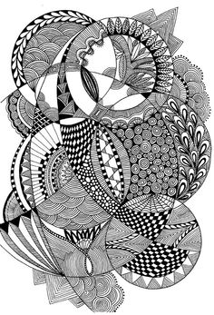 circles doodle - Zentangle like - zentangle inspired - #zetangle -