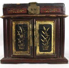 shopgoodwill.com: Antique Japanese Makeup Box W/ Brass Details