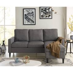 Free Shipping. Buy Mainstays Apartment Reversible Sectional, Multiple Colors at Walmart.com Sectional Sofas, Futon Sofa, Chaise Sofa, Grey Loveseat, Sofa Beds, Sleeper Sofa, Couches, Living Room Furniture Arrangement, Furniture Sale