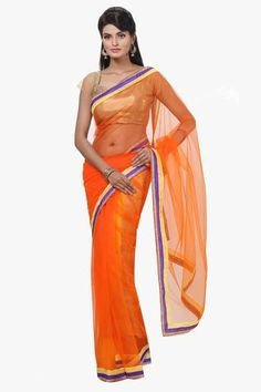 Orange Color Net Saree  #sarees #saris #fashion #look #looking #design #fashionable #design #trend #trending #design #collection #offers #amazing #new #offers #fashionable design #nice