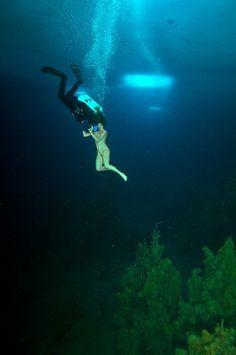 2-time world champion free diver Natalia Avseenko