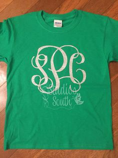 St. Patrick's Day Monogram Shirt Youth or by KandiDanielStudios