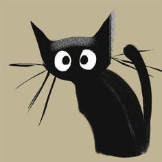 More cat u, u - Cats - Cat Drawing Crazy Cat Lady, Crazy Cats, Animals And Pets, Cute Animals, Black Cat Art, Black Cats, Cat Drawing, Cool Cats, Cats And Kittens