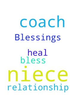 Blessings for my niece -  	Lord, please bless my niece and heal relationship with her coach. Amen!  Posted at: https://prayerrequest.com/t/ahf #pray #prayer #request #prayerrequest
