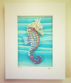 Seed Bead Embroidered Seahorse by Epigman on Etsy