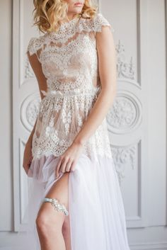 The prettiest heirloom garters from The Wedding Garter Co.