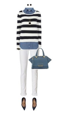 """""""Blue Bag For Early Fall"""" by ittie-kittie ❤ liked on Polyvore featuring rag & bone, Dorothy Perkins, ZAC Zac Posen, Kate Spade, Marc Jacobs, Dsquared2, Marlin Birna, Fall, bluebag and fallfashion"""