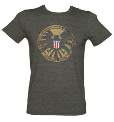 1ec737c16 Men s Dark Heather Avengers Shield Marvel T-Shirt from truffleshuffle  £19.99 Avengers Shield