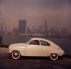 A Swedish Saab in America. Photographer: Pål-Nils Nilsson