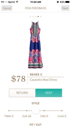 Renee C Casandra Maxi Dress I love Stitch Fix! Personalized styling service and it's amazing!! Fill out a style profile with sizing and preferences. Then your very own stylist selects 5 pieces to send to you to try out at home. Keep what you love and return what you don't. Try it out using the link! #stitchfix https://www.stitchfix.com/referral/5634870